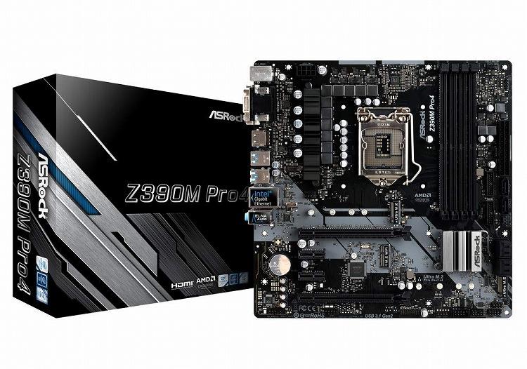 【送料無料】ASRock MicroATX Z390M PRO4 マザーボード Intel Z390 チップセット