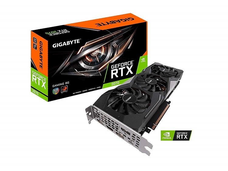 【送料無料】GIGABYTE NVIDIA RTX 2070 GV-N2070GAMING-8GC グラフィックボード