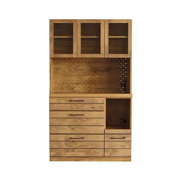 【送料無料】国産 キッチンボード リナ 完成品 105幅 食器棚 コンセント付き カップボード