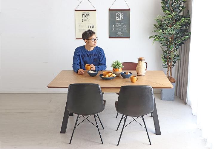 【送料無料】 アシュル 160ダイニングテーブルダイニング デザイナーズ カフェ テーブル 食卓 幅160 北欧