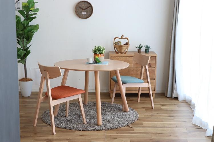 【送料無料】 エスカ 100ラウンドテーブル円形 ダイニング デザイナーズ カフェ テーブル 食卓 幅100 北欧