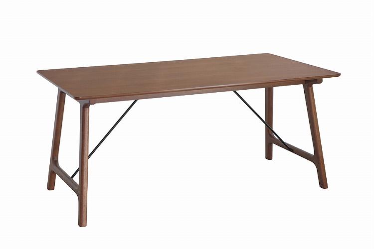 【送料無料】 バルド 160ダイニングテーブルブラウン ダイニング デザイナーズ カフェ テーブル 食卓 幅160 北欧
