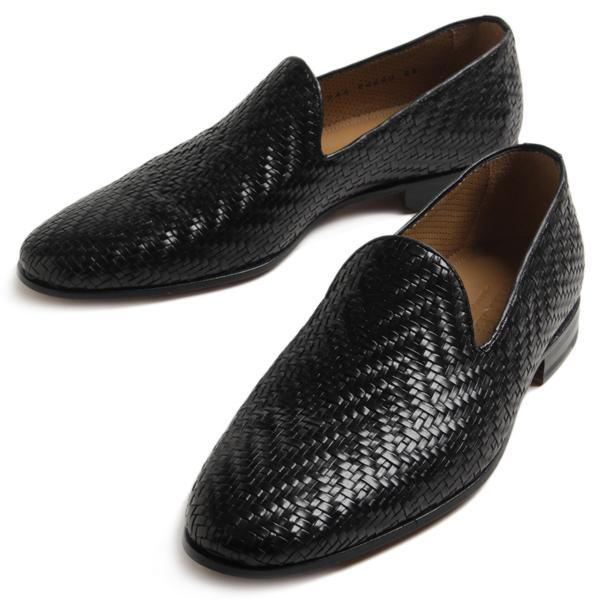 【2020春夏 待望の再入荷!】CALCE カルセ イントレチャート スリッポン 94680 ブラック メンズ 革靴