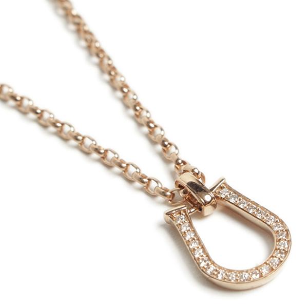 Per noi ペルノイ ネックレス K18 馬蹄 ホースシュー ピンクゴールド ダイヤモンド