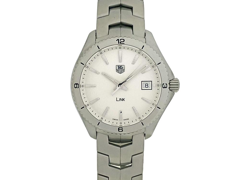 【中古】タグホイヤー TAG HEUER リンク クォーツ シルバー WAT1111.BA0950 メンズ 腕時計