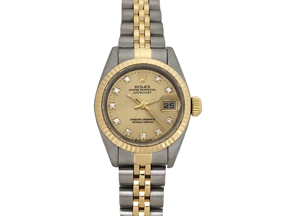 【中古】ロレックス ROLEX デイトジャスト 69173G レディース 腕時計 自動巻 S番 横穴無し