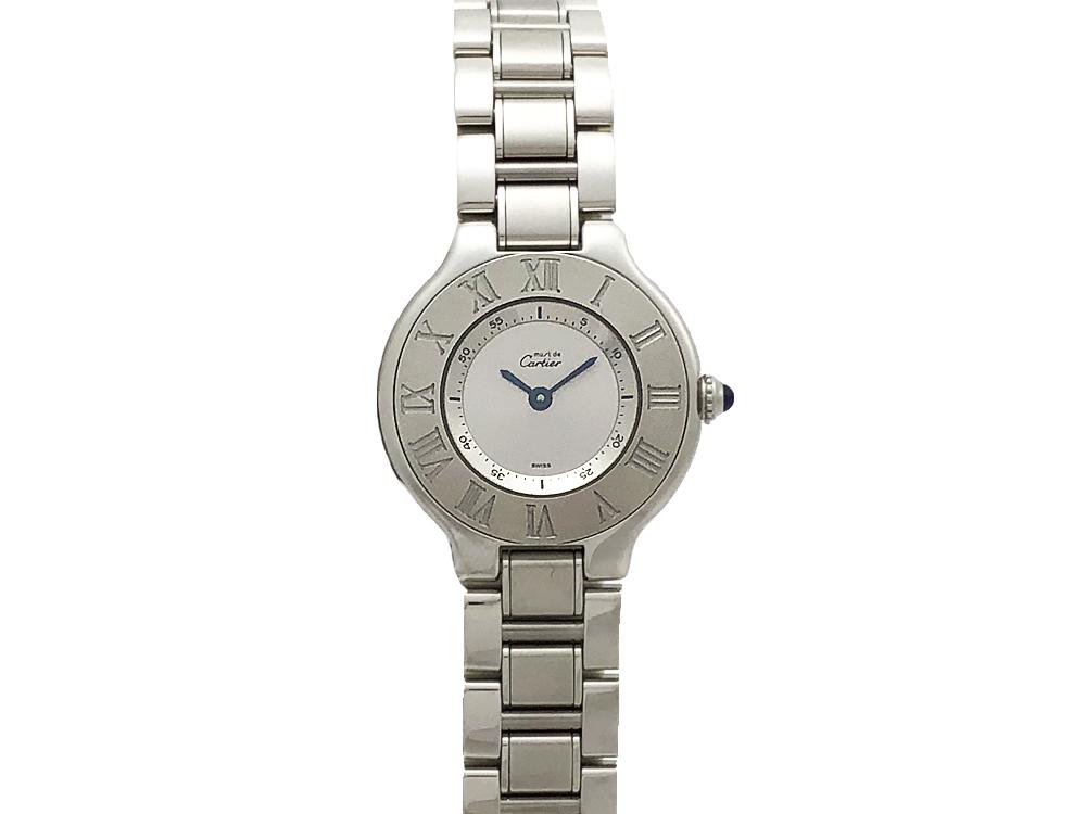 【中古】カルティエ CARTIER マスト21 ヴァンティアン SS クォーツ W10109T2 レディース 腕時計 仕上げ済