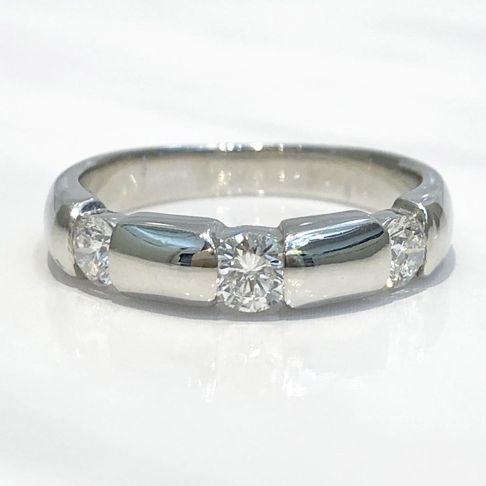 【中古】Pt900 ダイヤ ファッションリング 指輪 D 0.501ct 11号