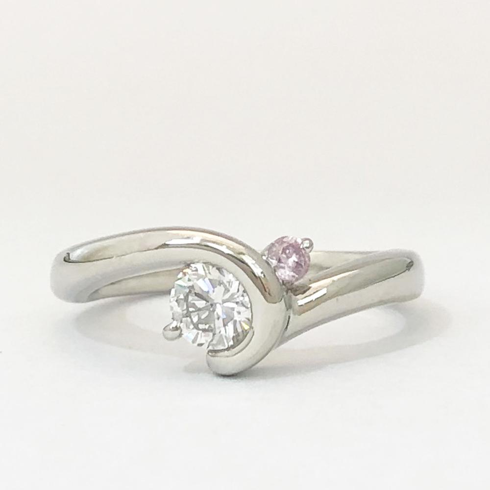 【中古】Pt900 ダイヤ リング 指輪 レディース ジュエリー D0.336ct 6.2g 10号