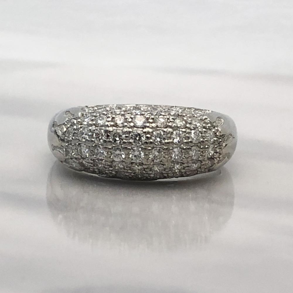 【中古】Pt900 ダイヤ ファッションリング D 0.58ct 13号 7.6g レディース 指輪