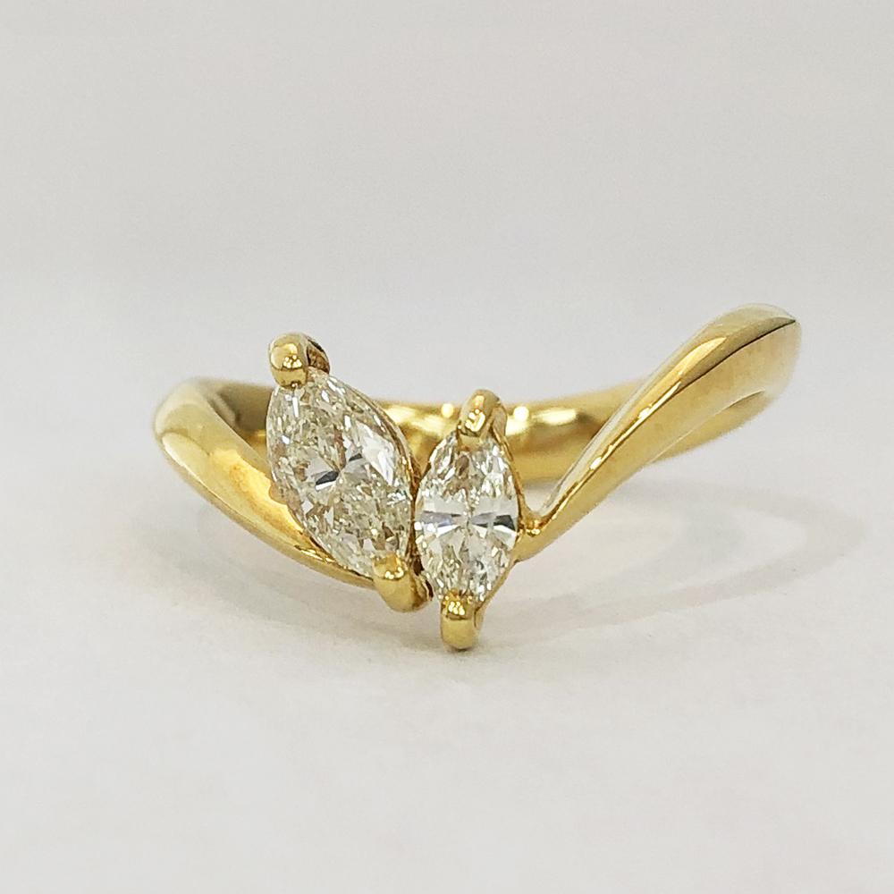【中古】 K18 ダイヤ ファッションリング 12号 D0.57ct 3.3g 指輪