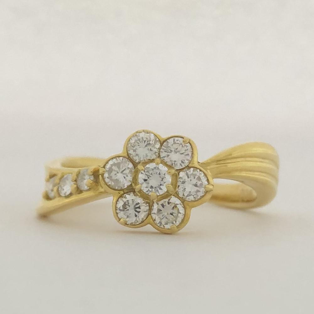 【中古】 K18 ダイヤ ファッションリング 12号 D0.50ct 3.6g 指輪