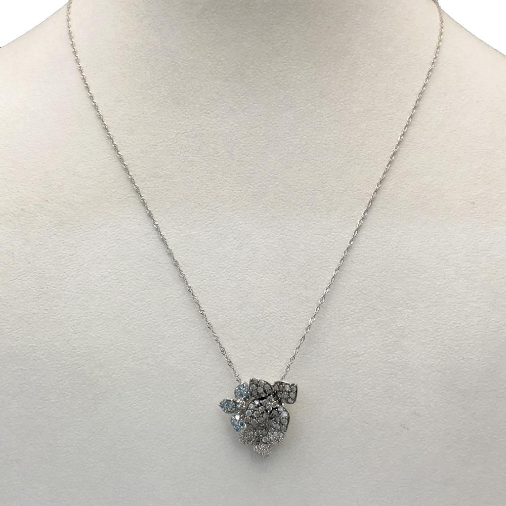 【中古美品】K18WG ダイヤ ネックレス  D 0.70ct 2.9g レディース