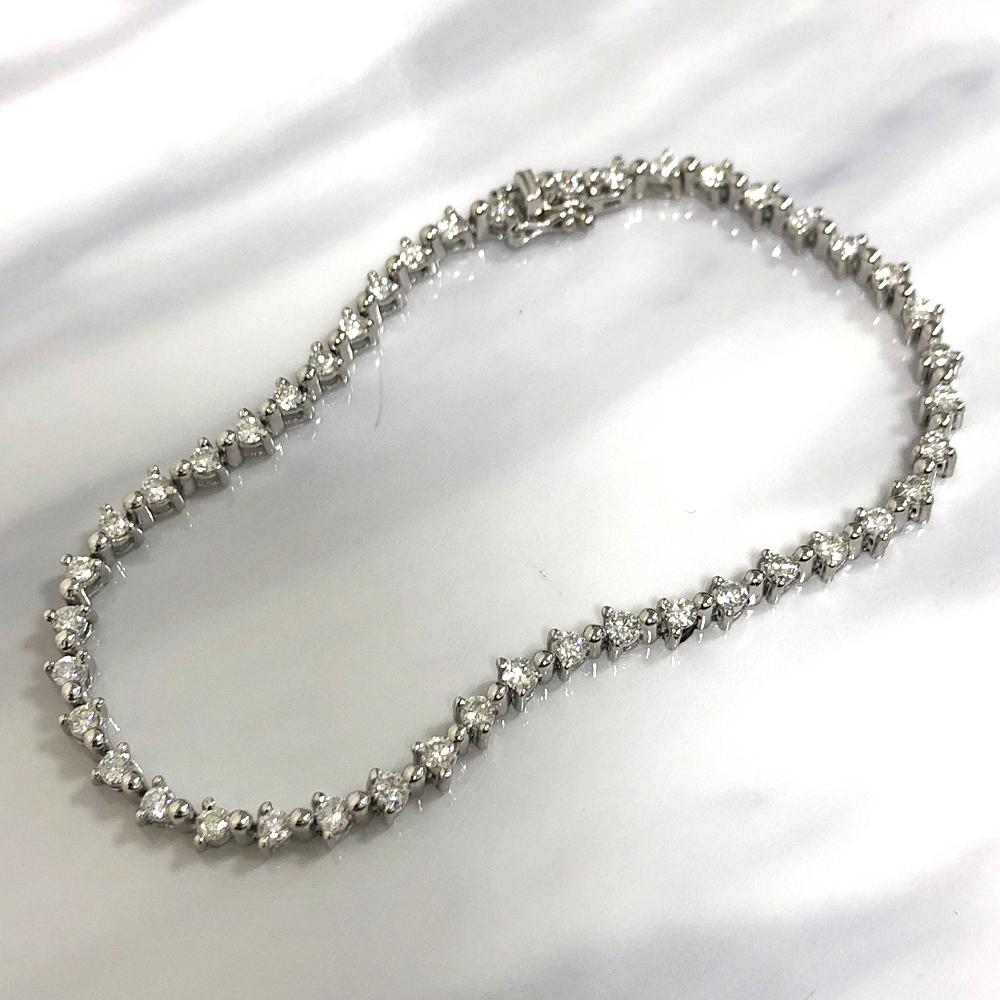 【中古】pt900 ダイヤ ブレスレット D 2.00
