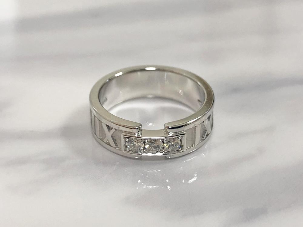 【中古】ティファニー Tiffany&Co. アトラス ダイヤ リング K18WG