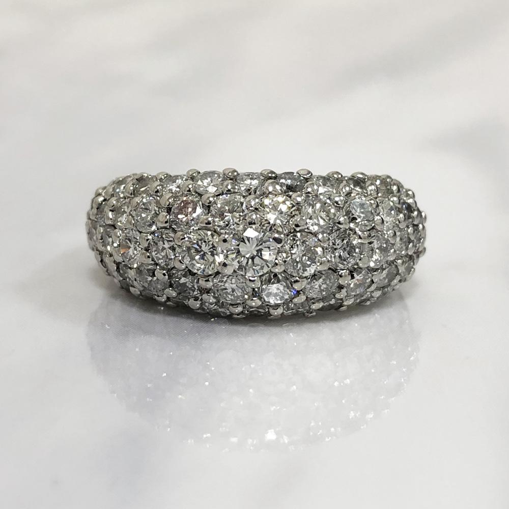 【中古】Pt900 ダイヤ デザインリング 指輪 レディース ジュエリー ダイヤ3.00ct 11.9g 12号