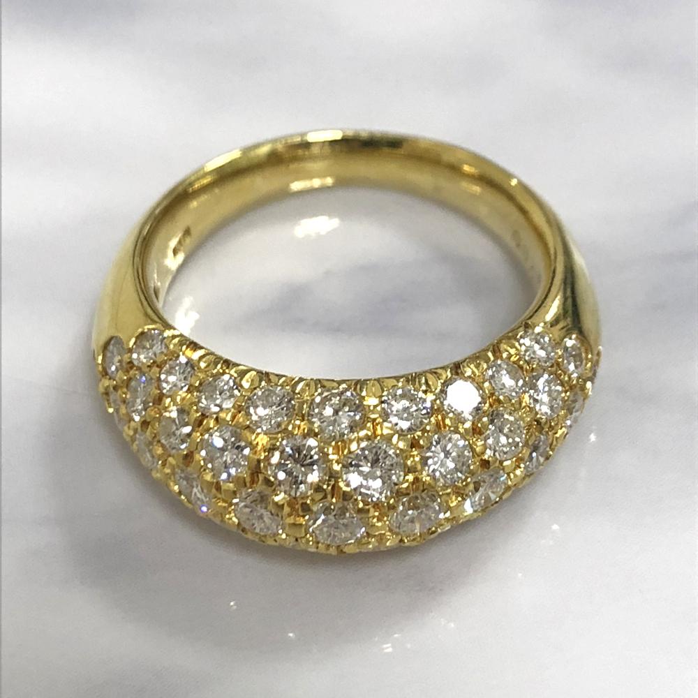 【中古】K18 ダイヤ ファッションリング D 2.00ct
