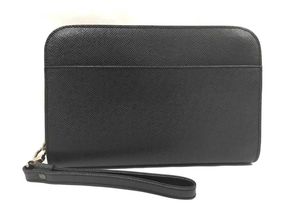 【中古】ルイヴィトン LV タイガ アルドワーズ バイカル M30182 セカンドバッグ ビジネスバッグ ブラック 黒 レザー メンズ 男性用 鞄