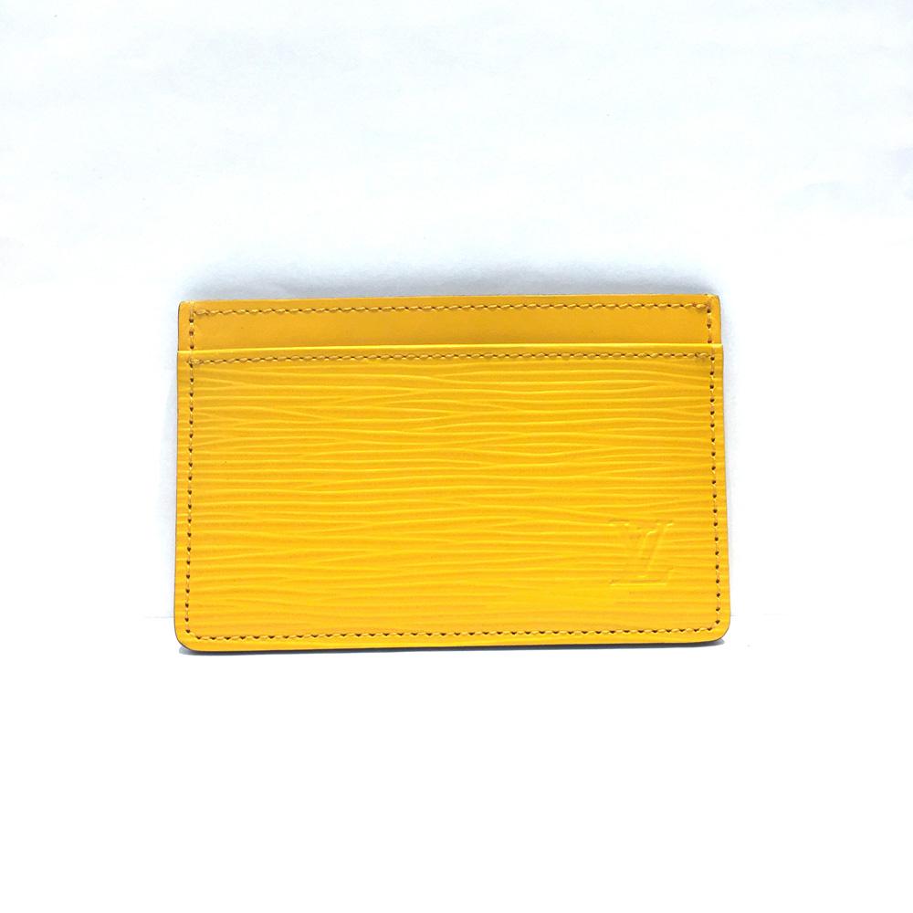 【中古】Louis Vuitton ルイヴィトン エピ ポルト カルト・サーンプル カードケース M60329 イエロー