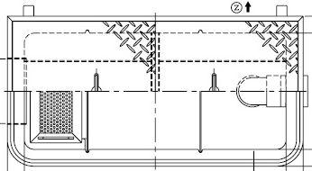 【ホーコス】GFR-15EAU《ステンレス製蓋》FRP製 超浅型グリース阻集器(グリストラップ)側溝式 シンダー埋込型 15Lステンレス製蓋別枠式マンホール