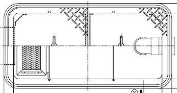 【ホーコス】GFR-15JEU《ステンレス蓋付》FRP製 超浅型グリース阻集器(グリストラップ)側溝式 シンダー埋込型 15L ステンレス製蓋付直置き式マンホール