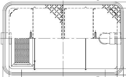 《メーカー直送品 代引き不可》送料無料※北海道 沖縄 離島は送料別途 ホーコス GFR-25JPU《鋼板製蓋付》FRP製 WEB限定 パイプ流入式シンダー埋込型 グリストラップ 限定モデル 超浅型グリース阻集器 25L 鋼板製防錆塗装蓋付直置き式マンホール