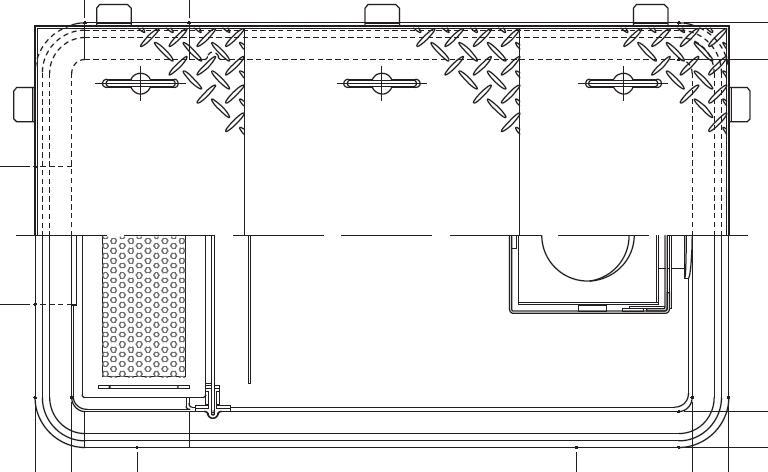 【ホーコス】GFRA-N20EA《鋼板製蓋付》[日本阻集器工業会認定品]FRP製超浅型グリース阻集器(グリストラップ)側溝流入式別枠式マンホール 鋼板製防錆塗装蓋付シンダー埋込型