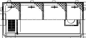 《メーカー直送品 値引き 代引き不可》送料無料※北海道 沖縄 離島は送料別途 ホーコス 超目玉 GFRA-N70EA《鋼板製蓋付》 日本阻集器工業会認定品 FRP製超浅型グリース阻集器 鋼板製防錆塗装蓋付シンダー埋込型 側溝流入式別枠式マンホール グリストラップ