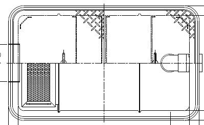 【ホーコス】GFR-25JEU《ステンレス製蓋付》FRP製 超浅型グリース阻集器(グリストラップ)側溝式 シンダー埋込型 25Lステンレス製蓋付 直置式マンホール