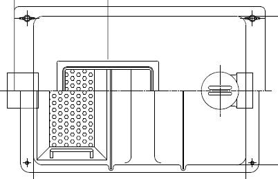 【ホーコス】GF3-35GFRP製 床置型グリース阻集器(グリストラップ)点検窓付3槽式