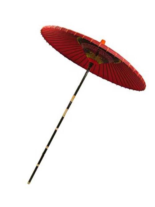 特撰 羽二重 野点傘 2尺5寸【送料無料(沖縄、北海道、離島除く)】