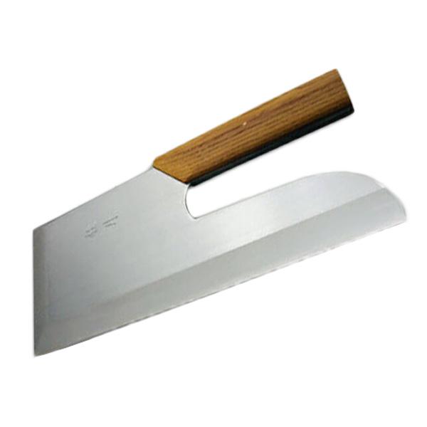 蕎麦切り包丁 刃渡り30センチ 木柄付き 左利き用 【送料無料】