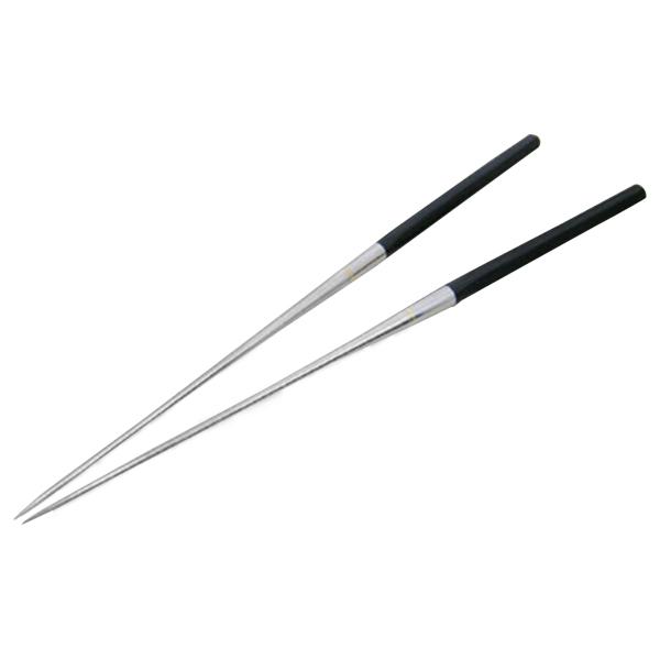【ゆうパケット対応】黒合板 六角柄 盛箸(盛り箸・盛りばし)180