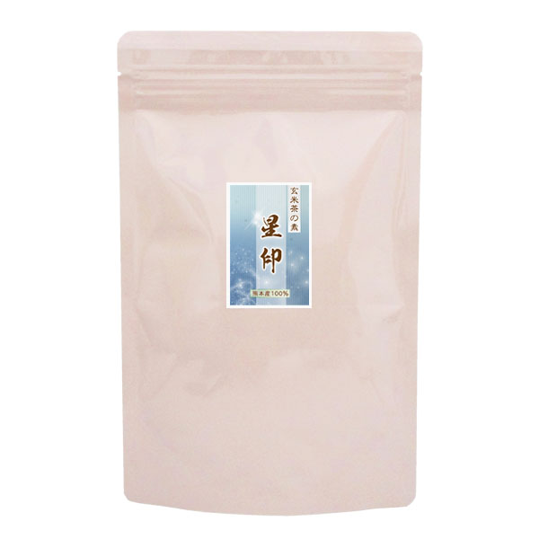 在庫一掃 玄米茶の素 海外並行輸入正規品 星印80g ゆうパケット便6袋まで 九州熊本県産100%