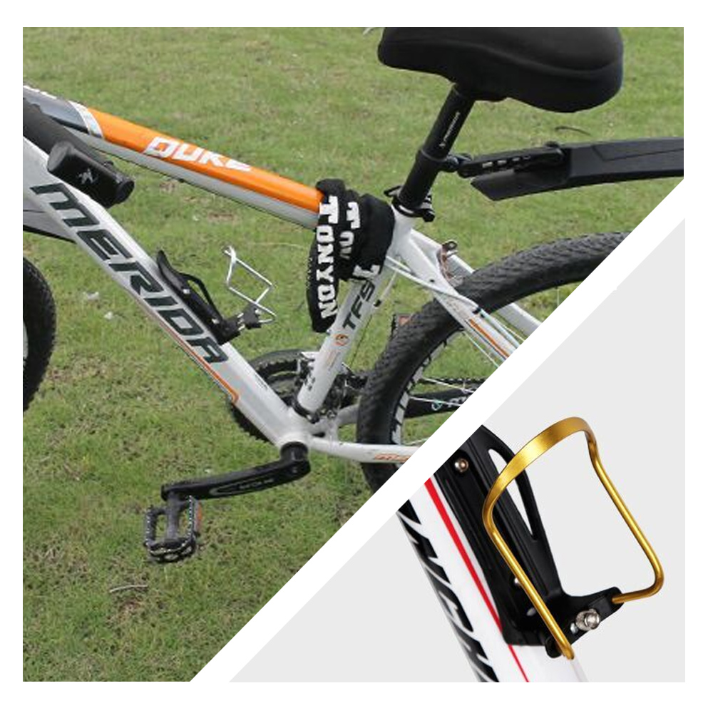 Bicycle bottle holder compatible with most mountain bikes