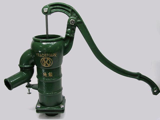 井戸 手押しポンプ 打込式 配管 接続用 人力 ガーデンポンプ ガチャコン ポンプ 鋳物製 3寸5分 40A