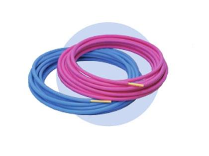保温材付 ポリブテン パイプ 給水 給湯 宅内 配管 16A 被覆厚 5mm ブルー/ピンク