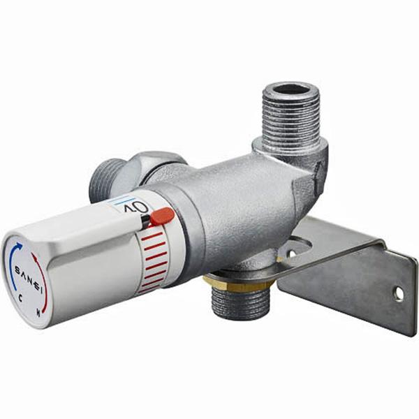 ミキシング サーモ継手 サーモスタット ユニット バルブ SANEI 三栄 水栓 適温 出湯 U11-20X3 (接続口径15A)