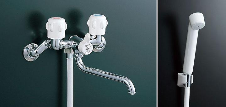 LIXIL,INAX,BF-K651,2ハンドル式シャワーバス水栓(節水スプレーシャワー付,吐水口長さ170ミリ)