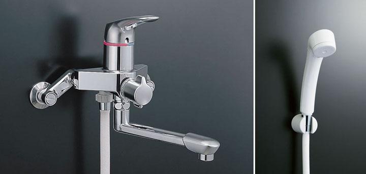 LIXIL、INAX 浴室水栓、アステシアシリーズ シングルレバー式シャワーバス水栓(スプレーシャワー付)