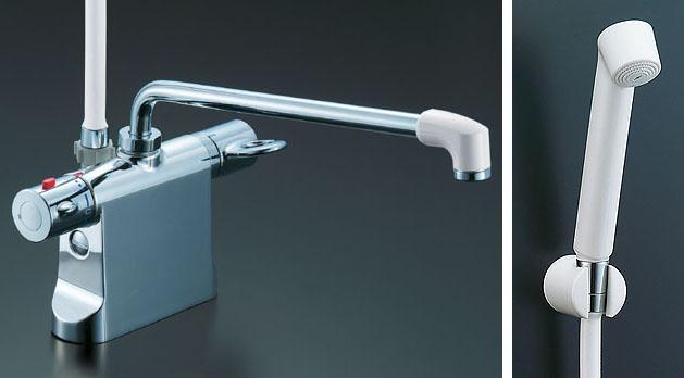 LIXIL、INAX 浴室水栓、サーモ付シャワーバス水栓(デッキタイプ)