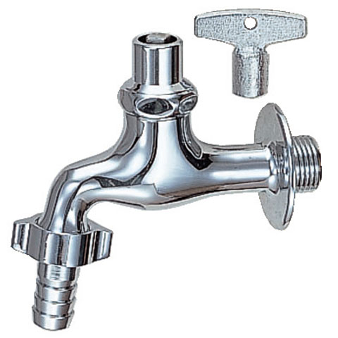 LIXIL, INAX Outdoor Water Spigot And Coupling With Lateral Water Faucet  (key, Valve With Check, 13 Mm For)
