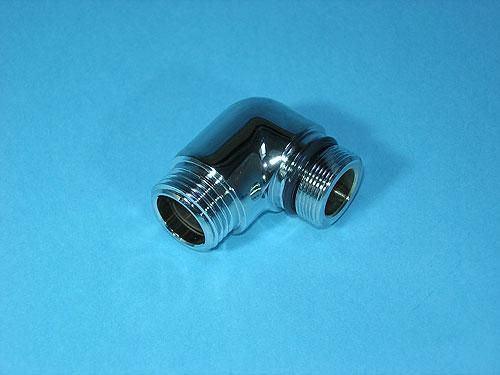 スイッチシャワーをその他シャワーに取替える際の交換パーツ LIXIL,INAX,A-1810-1,金属製シャワーエルボ(化粧仕上げ有り,普通シャワーホース用)