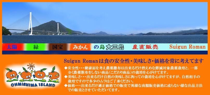 Suigun Roman:産直で低農薬ノーワックスの自然な味の濃い美味しい柑橘をお届けします