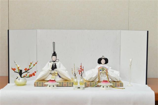 ひな人形 きよら スノーホワイト コンパクト中型 フルタイプ 親王毛せん飾りkw38wh 131178