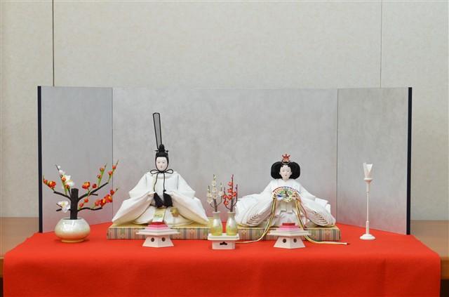 ひな人形 きよら スノーホワイト コンパクト中型 フルタイプ 親王毛せん飾りkw36re 131987