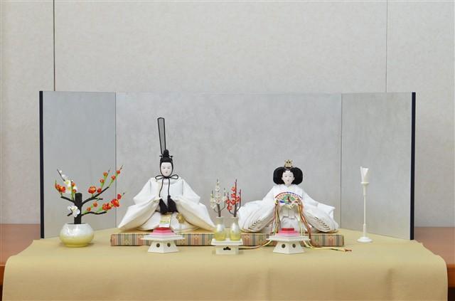 ひな人形 きよら スノーホワイト コンパクト中型 フルタイプ 親王毛せん飾りkw36kh 132038