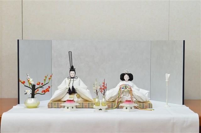 ひな人形 きよら スノーホワイト コンパクト中型 フルタイプ 親王毛せん飾りkw36wh 132069