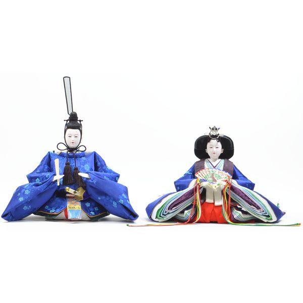 ひな人形 親王単品 きよら 青 京十番 三五 スカイブルー 小梅 302226