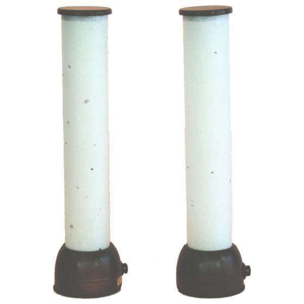 雪洞 灯り 単品 部品売り 25cm 鷺筒型あんどん ブラウン コードレス 2本入 111859